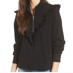 Wildfox Prima Warm Zip Up Sweater